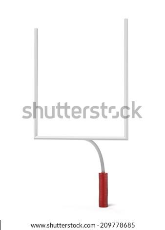 American Football Goal Posts - stock photo