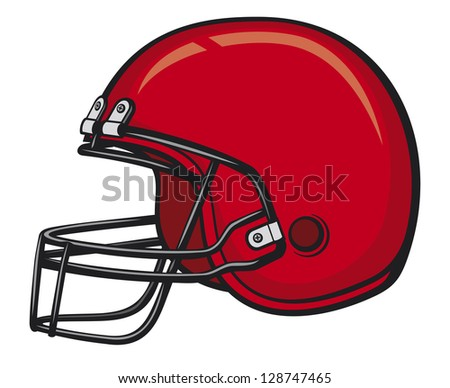 american football helmet - stock photo