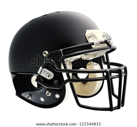 American football helmet isolated on a white background - stock photo