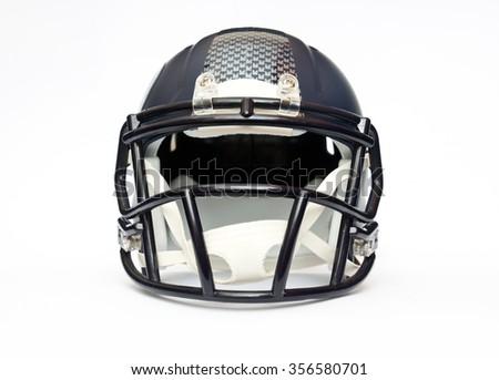 american football helmet isolated on white background - stock photo