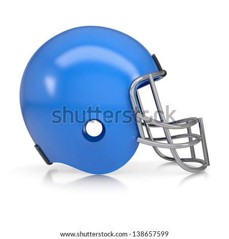 American football helmet. Isolated render on a white background - stock photo
