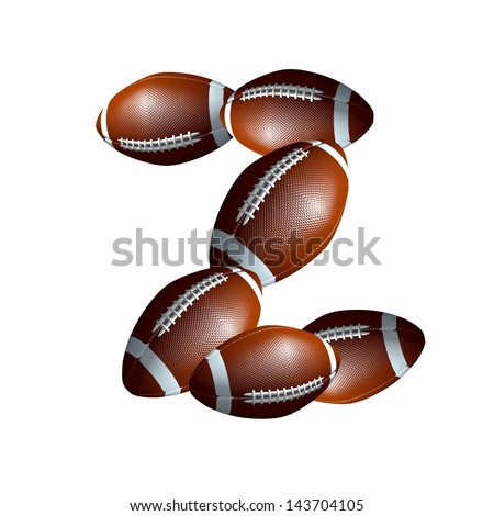 american football icon alphabet capital letter Z