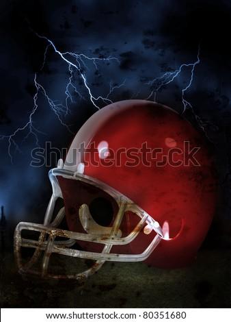 American Football Illustration - stock photo