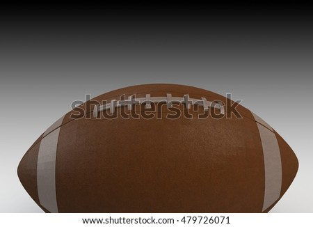 American Football isolated, 3D rendering