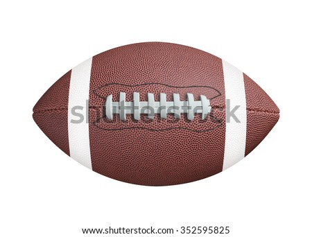 American football isolated on white background. Clipping path - stock photo