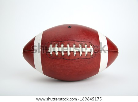American Football Isolated on White Background, no logos - stock photo