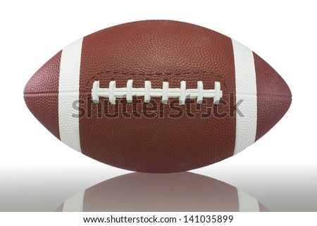 American Football isolated on white (with clipping path)