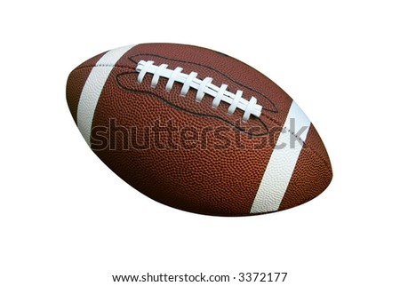 American football isolated over a white background - stock photo