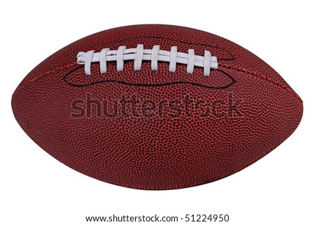 American football isolated over a white background with a clipping path