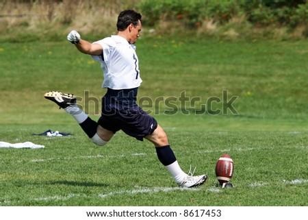 American football kick. - stock photo