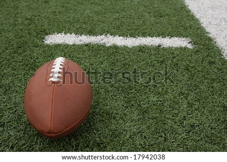 American Football near the hashmark - stock photo