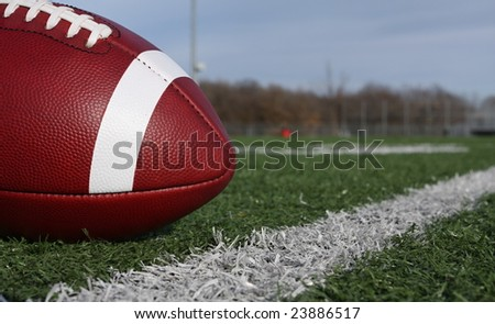 American football near the yardline - stock photo