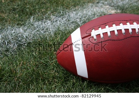 American Football on a Grass Field