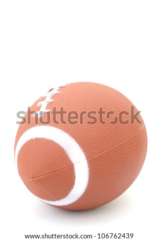 American football on a white background - stock photo