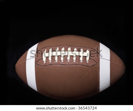 American Football on Black background - stock photo