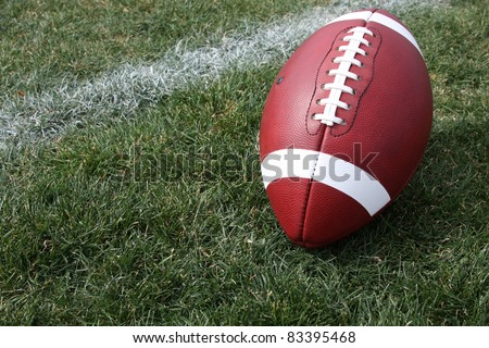 American Football on Natural Grass with room for copy