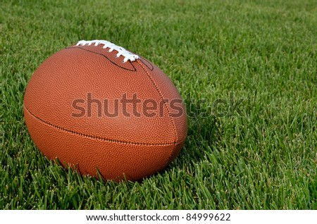 American Football on Real Grass Turf of a Football Field