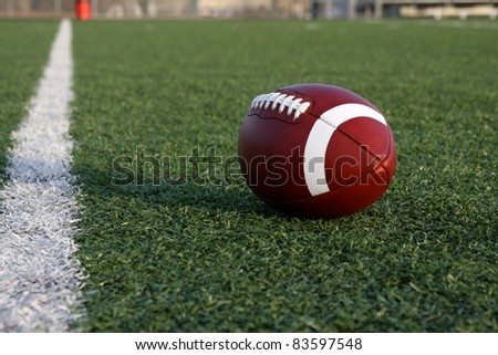 American Football on the Field near the Goal Line
