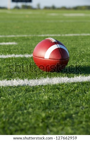 American Football on the Field with room for copy