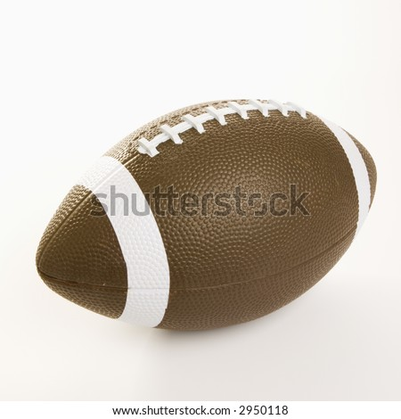 American football on white background. - stock photo