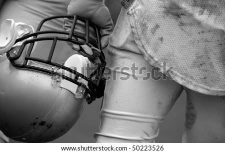 American Football Player - stock photo