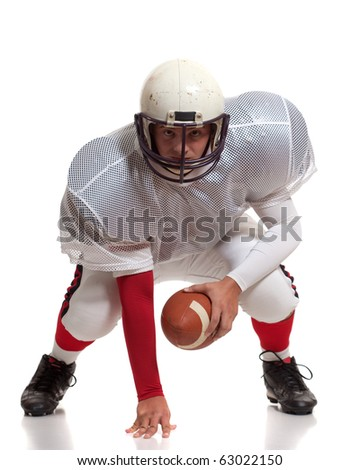 American football player. - stock photo