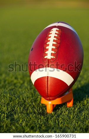 American Football ready for kickoff
