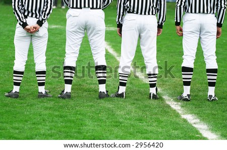 American football referee in line. American football concept - stock photo