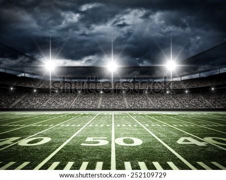 american football satdium - stock photo