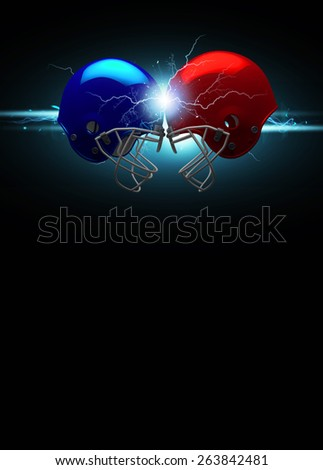 American football sport invitation poster or flyer background with empty space