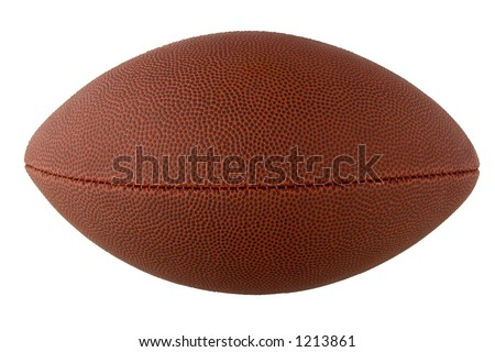 American Football with clipping path - stock photo