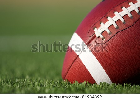 American Football with copy space - stock photo