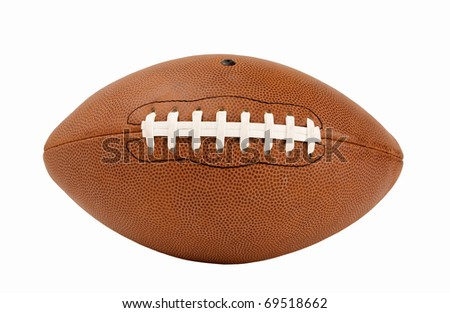 American Football with no logos Isolated with Clipping Path