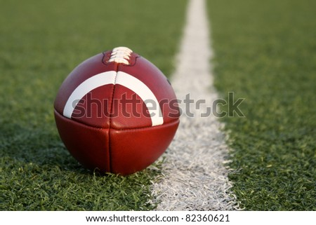 American Football with room for copy