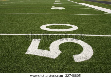 American football yard lines - stock photo