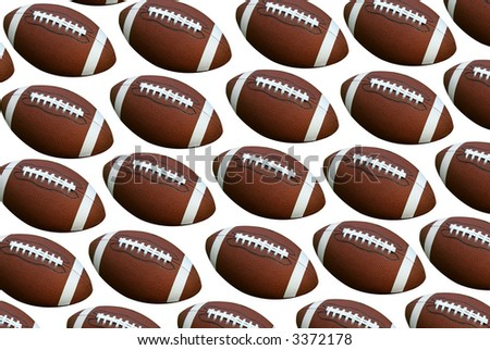 American footballs isolated over a white background - stock photo