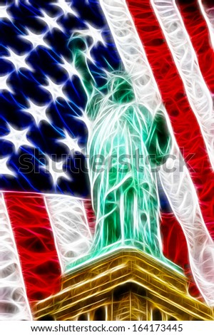 American freedom abstract - stock photo
