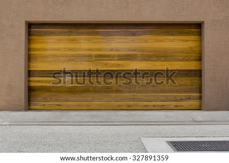 American garage door - stock photo