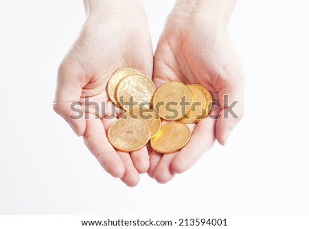 American gold coins - stock photo
