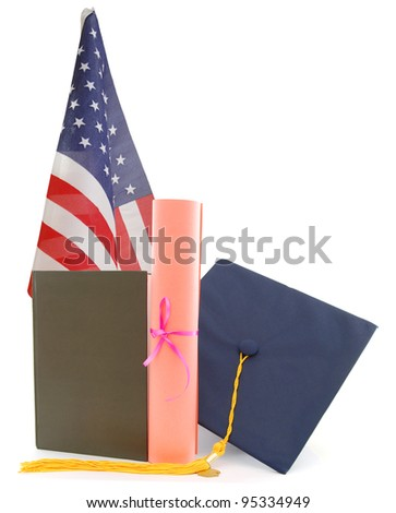 American graduation school - stock photo