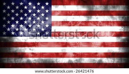 American grunge flag - stock photo