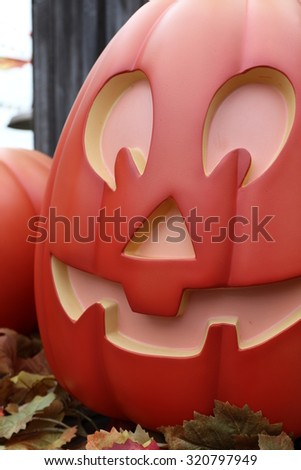 American, Halloween, street decoration, Horror Nights,Pumpkin lantern - stock photo