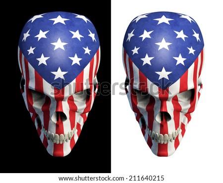 American horror v2 - stock photo