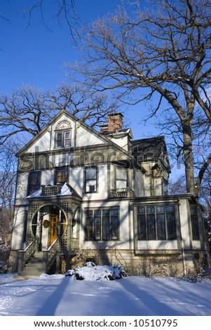 American House in Oak Park - stock photo
