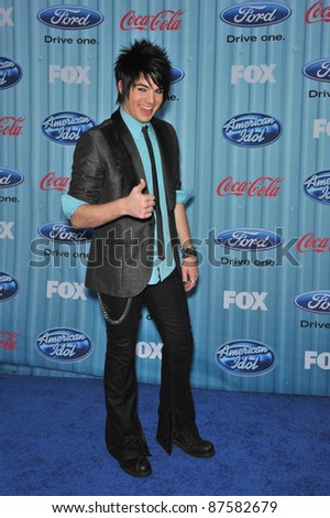 American Idol finalist Adam Lambert at the American Idol Final 13 Party at Area Nightclub, West Hollywood. March 5, 2009  Los Angeles, CA Picture: Paul Smith / Featureflash - stock photo