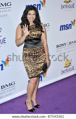 American Idol winner Jordin Sparks at music mogul Clive Davis' annual pre-Grammy party at the Beverly Hilton Hotel. February 9, 2008  Los Angeles, CA Picture: Paul Smith / Featureflash