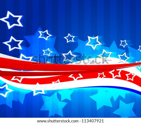 American Independence Day Background - stock photo