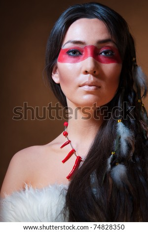 American Indian War Paint Symbols American indian with paint
