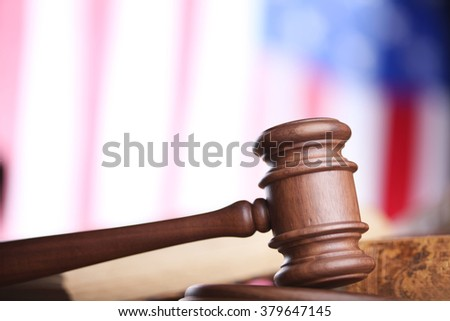 american law and justice - stock photo