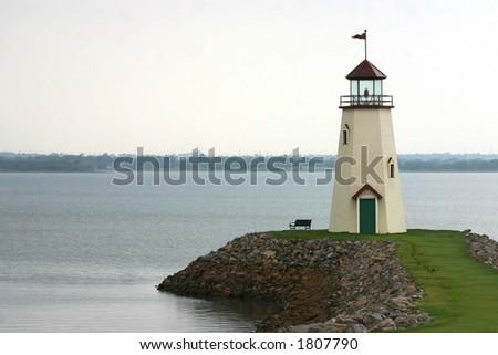 American Lighthouse - stock photo